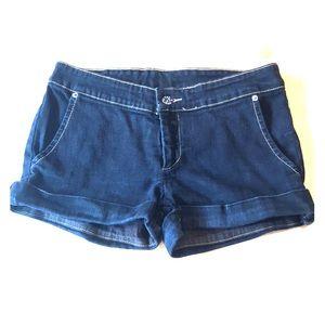 Carmar Black Denim Shorts